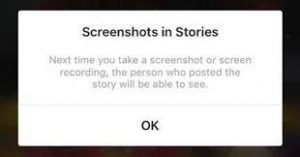 can people see if you screenshot instagram story