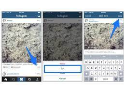 how to edit a instagram post